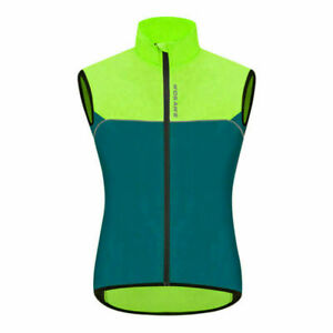 Mens Cycling Gilet Windproof Foldable Cycling Jacket Breathable MTB Bike Vest