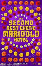The Second Best Exotic Marigold Hotel Double Sided Poster 27x40