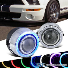 """4"""" 7 Color Halo Projector Fog Lights Daytime Running Lamp w/ Switch"""