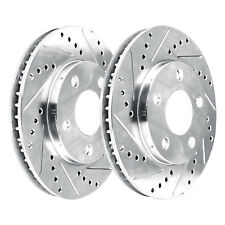 [2 FRONTS]  2 Platinum Hart *DRILLED & SLOTTED* Front Disc Brake Rotors - 1341
