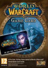 World of Warcraft 30 Day Game DIGITAL CODE - WOW 30 Days Game TimeCard [Europe]