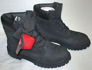 New Timberland 6 inch Premium Black Waterproof Boots Youth Big Kids Size 7 12907