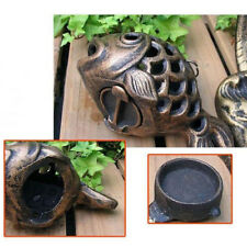 Fish Style Candle Holder Outdoor Backyard Lantern, Cast Iron Garden Ornament