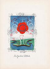 """Original 1939 DERAIN Seven Color Lithograph Set """"The Garden of Allah"""" SIGNED COA"""