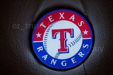 "New Texas Rangers Logo Man Cave LED Neon Sign 17"""