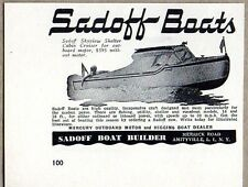 1950 Print Ad Sadoff Skyview Shelter Cabin Cruiser Boats Amityville, L.I. NY