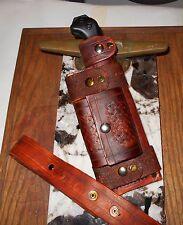 Ka-Bar Becker BK2 BK16 ,BK10 Handmade Leather Bush craft Sheath. Vert Horiz wear