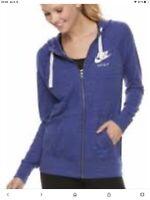 nike women's sportswear hoodie Size Large Purple Size UK XL