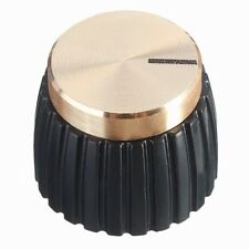 10x Guitar AMP Amplifier Knobs Push-on Black+Gold Cap for Marshall Amplifie F0J0