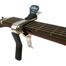 Acoustic electric Guitar Capo Quick Release TRIGGER key clamp  + Pick holder