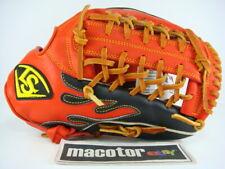 "Louisville Slugger Mesh 12"" Infield Baseball / Softball Glove Black Orange RHT"