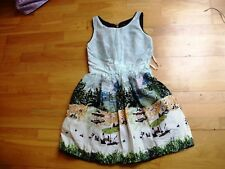 Atmosphere Ladies summer print dress 50's style UK size 10 tags still on retro v