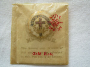 Vintage Sunday School Pin - Enameled United Missionary with original packaging