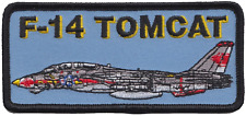United States Navy USN Grumman F-14 Tomcat Side View Black Embroidered Patch