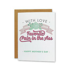 Funny Adult Handmade Happy Mother's Day Card from the Favorite Child