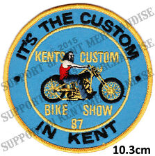 HELLS ANGELS KENT CUSTOM BIKE SHOW 1987 Patch HIGHLY COLLECTABLE RARE KBCS