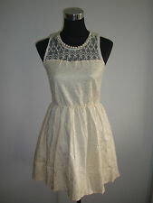 white lace pearl neck accent cassual party night dress