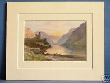 GLENVEAGH DONEGAL ULSTER IRELAND VINTAGE DOUBLE MOUNTED PRINT 10X8 SUPERB IMAGE