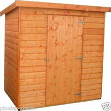 6x6 WOODEN GARDEN SHED PENT ROOF FULLY T&G STORAGE HUT 12MM