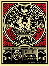 VIVE LE ROCK shepard fairey obey giant  **SOLD OUT**