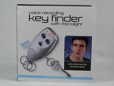 Voice Recording Keyfinder With Micro Light-Whistle-Keyfinder Beeps #PS2518TI NIB