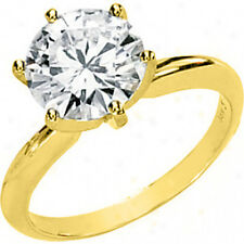 1.29 CT. CERTIFIED DIAMOND ROUND CUT SOLITAIRE ENGAGEMENT RING 14K YELLOW GOLD