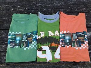 Old Navy Lot of 3 Boys Muscle Shirts Size XL 14-16 Green and Orange