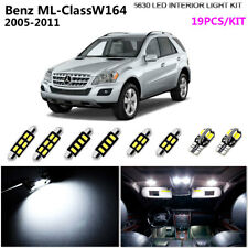 19Bulb Super White 6000K Interior Light Kit LED Fit 2005-2011 Benz ML-Class W164