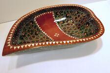 Holzschale Handbemalte Perlmutt Schmuck Schale Teakholz  Indonesien Bali Kunst