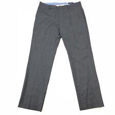 Banana Republic Mens Tailored Slim Fit Dress Pants Grey Tweed Size 36x34 Wool