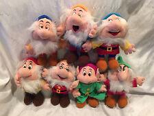 "Collectible Disney Seven Dwarfs 9"" Plush Complete Set By Grand Smart No Tags"