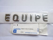 HOLDEN VX VY VZ COMMODORE ' EQUIPE ' REAR BADGE SEDAN WAGON GENUINE GM NEW
