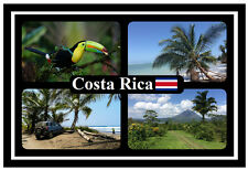 COSTA RICA - SOUVENIR NOVELTY FRIDGE MAGNET - FLAGS / SIGHTS - BRAND NEW / GIFT
