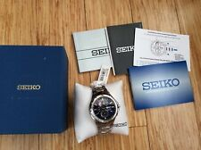 $475 Seiko Men's Coutura Stainless Steel Solar Chronograph Watch - SSC375 NEW