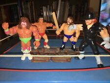 WWF Hasbro Lot Ultimate Warrior Texas Tornado Hacksaw Undertaker!