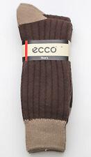 3 pk Men's ECCO Pima Cotton Brown Dress Socks Style E3CL27BR Size: 10 - 13