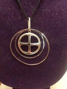 RLM Studio Sterling Silver Necklace On Black Leather