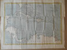 Carte des Indes Occidentales ( Antilles ) vers 1830.