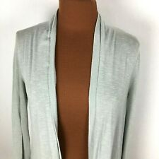 Kimchi Blue Womens Sweater Cardigan Large L Teal Open Front Lace Back Rayon