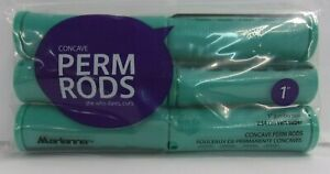 """MARIANNA Concave Wave / Perm RODS 1"""" JUMBO TEAL~ 6 CT  Per Pack ~Lot of 3 Packs!"""