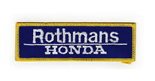 Rothmans Honda Sew On Patch