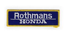 Rothmans Honda Sew On Patch