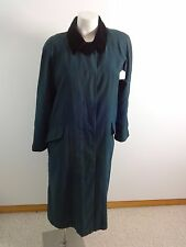 ANNE KLEIN WOMENS WARM GREEN LINED TRENCH COAT SIZE 10P