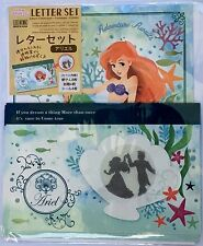 New Disney Princess Ariel Letter Set Made in Japan Stationery F/S