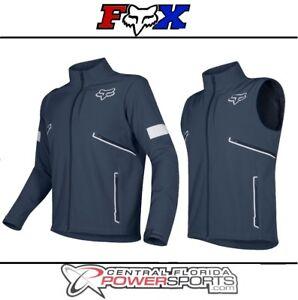 2019 Fox Racing Mens Legion Softshell Navy Dirt Bike Jacket Dual Sport ATV