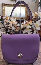 New Kate Spade New York Bond Street Sawyer Lilac Leather Shoulder Bag MSRP $398