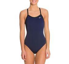 Nike Swim Poly Training Lingerie Tank One Piece Swimsuit - Midnight Navy - 32