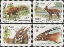 Vietnam 2000 WWF/Saola/Deer/Animals/Nature/Wildlife/Conservation 4v set (n16246)