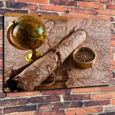 """VINTAGE MAPPAMONDO MAPPA viaggio Explorer Scatola stampata foto su tela A1.30""""x20""""30mm di profondità"""