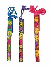 Fun Express Bright Hibiscus Pen On A Rope Plastic - 12 Pieces